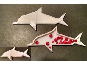 """Origami"" Dolphin Box"