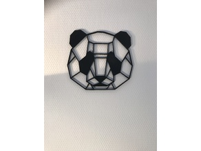 Geometric Panda Wall Sculpture
