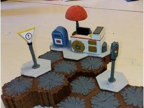 Hex Terrain City Set 2