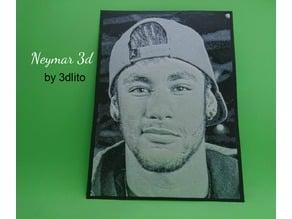 Dibujo 3D Neymar