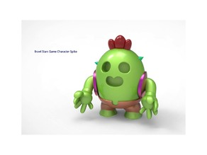 Brawl Stars Game Character Spike Toy