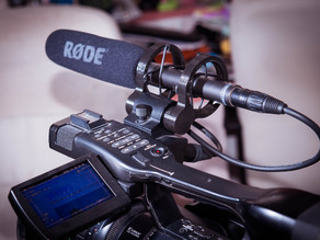 Microphone shock mount for camera