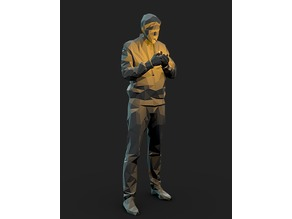 Smoking Man Low Poly