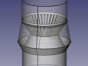Water rain barrel diverter 80mm/19mm for vertical pipe- Inserto scarico acqua piovana 80mm/19mm  per discendenti verticali