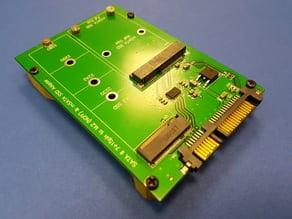 SATA III (7+15pin) to M.2.(NGFF) & msata SSD Adapter holder