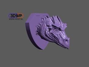 Dragon Head Wall Mount (Trophy)