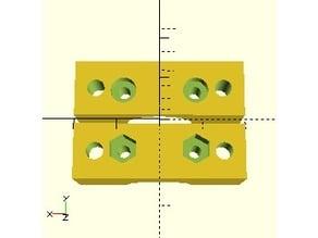 Minimalistic parametric mount for E3Dv6 hotend