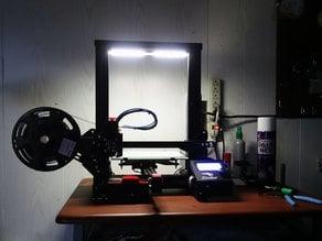 LED Light Bar Clips for Ender 3 (or any V-slot Extrusion)