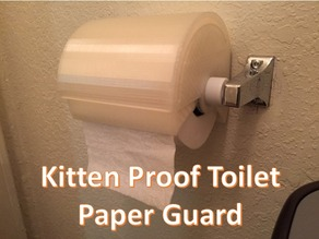 Kitten Proof Toilet Paper Guard