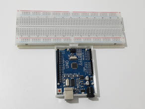 Arduino Uno&breadboard compartment with dovetail