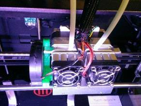Makerbot Replicator 2X PLA Fan Mount