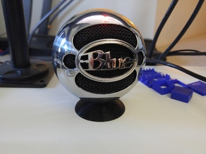 Blue Snowball Microphone short desk stand
