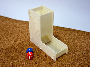 Simple and demountable dice tower