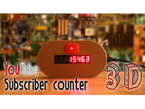YouTube subscriber counter WIFI