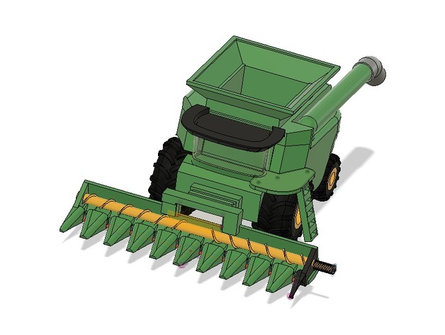 Combine Harvester with Corn Head by PROFDM1 - Thingiverse