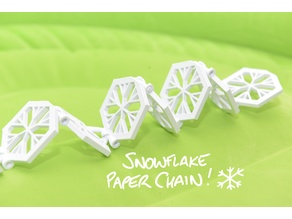 Snowflake Paper Chain