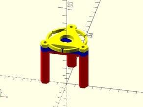 E3D v5 mount for rostock mini