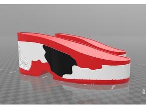 Koi themed 10cm platform heel sole
