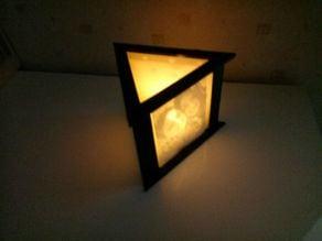 Photophore Triangle candle (lithophane)