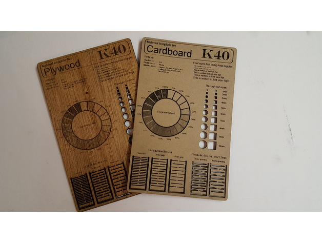 Laser cutting material template remixed for K40 Laser by SkaBoyTD ...