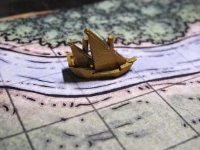 Map Token: Merchant Ship  (Caravel design)