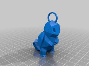 Low Poly Squirtle Keychain