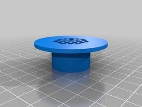 Designer Styled Bathroom Sink Strainer - 3D Printer Optimized