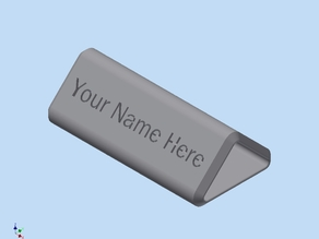 Name Desk Plate Improved