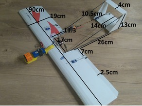 rc fpv plane made in Fluted plastic sheets . fiberglass stick . 3D print parts ( modular ) . simple . easy DIY