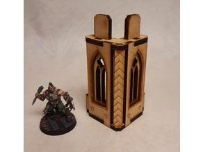 Nordgrim tower corner #1 for 3mm laser cut MDF