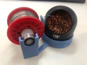 Solder alloy and sponge holder