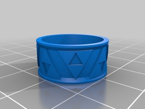 My Customized Zeldathon Recovery Triforce Bas Relief Ring