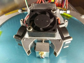 Kossel triple fan duct for E3D-V6 or Volcano extruder