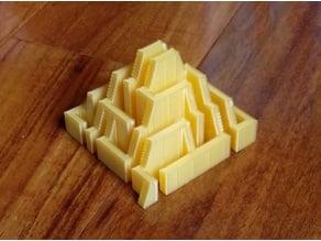 Pyramidal staircase maze