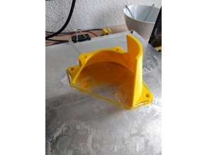 Hephestos 60 to 80mm fan adapter with draft protection