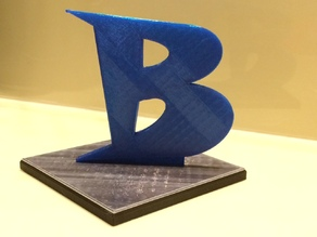 Stylized letter B with stand