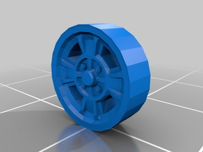 classic wheels low poly