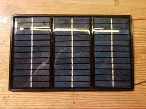 ~ 3W/19V (idle) Solar module Frame (~ 3.50$) // ~ 3W/19V (Leerlauf) Solarmodul Rahmen (~ 4€)