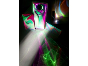 Laserable dichroic 3D textured laminates