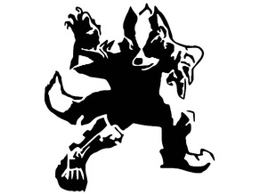SF Wolf stencil