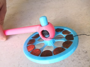 12-Cent Top - Spinning Top Toy with Launcher