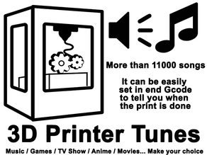 3D printer tunes (11101tones) let your printer play music