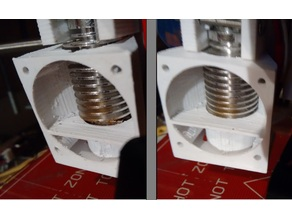 E3D v5 and v6 40x40 Fan Duct remix (firmness and air flow)