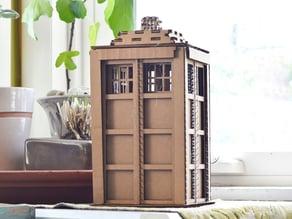 Lasercut Cardboard Tardis  (Doctor Who)
