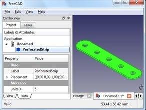 Parametric 1/2 inch Perforated Strip