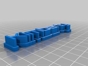Kimberly 3D name plate