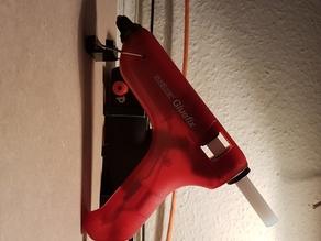 Hot Glue Gun Wall Mount Bracket // Heißklebe Pistolen Wandbefestigung