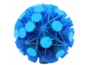 3D Snowflake BlocksCad