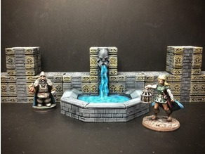 ScatterBlocks: Dwarven Fountain (28mm/Heroic scale)