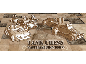 TANK CHESS - Wasteland themed custom vehicles